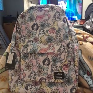 NWT Loungefly Disney Princesses Floral Backpack